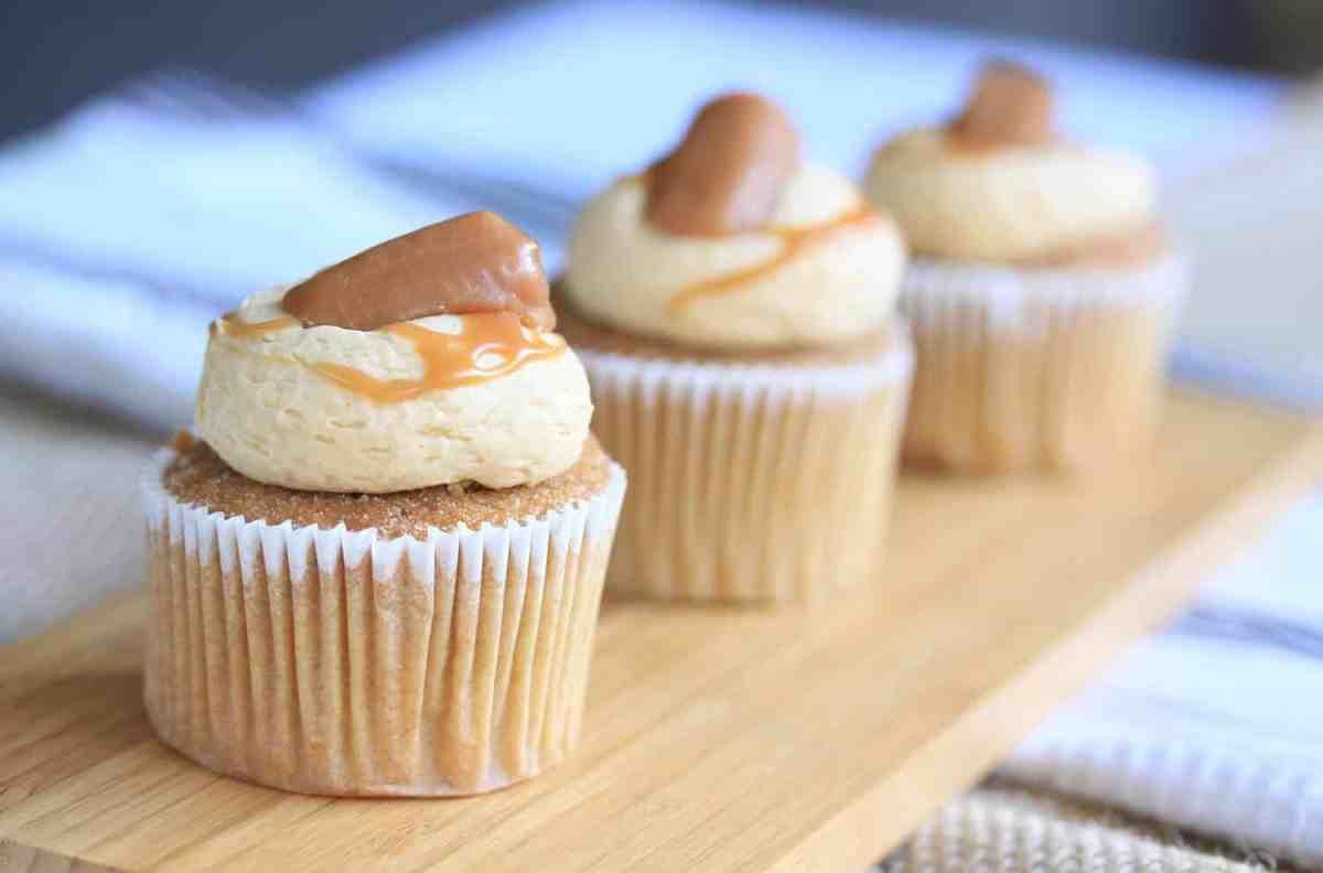 Salted Caramel Cinnamon Cupcakes