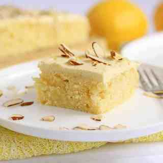 Almond Lemon Poke Cake by Sugar Salt Magic