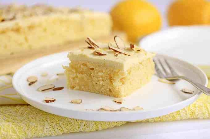 Almond Lemon Poke Cake by Sugar Salt Magic
