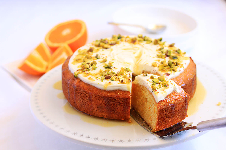 Orange Semolina Cake with Yoghurt and Pistachios | Sugar ...