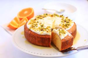 Orange Semolina Cake by Sugar Salt Magic