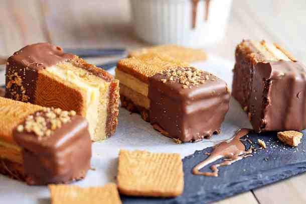 Among classic Aussie desserts is the golden gaytime ice cream, now reinvented in my Golden Gaytime Slice. A quick custard, easy toffee, biscuit and chocolate, you must try.