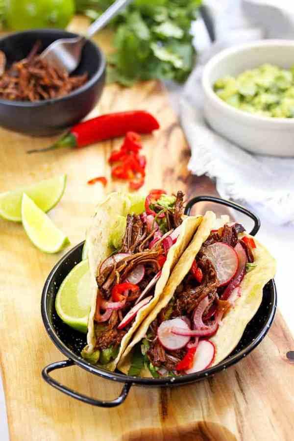 Braised BBQ Beef Short Rib Tacos by Sugar Salt Magic