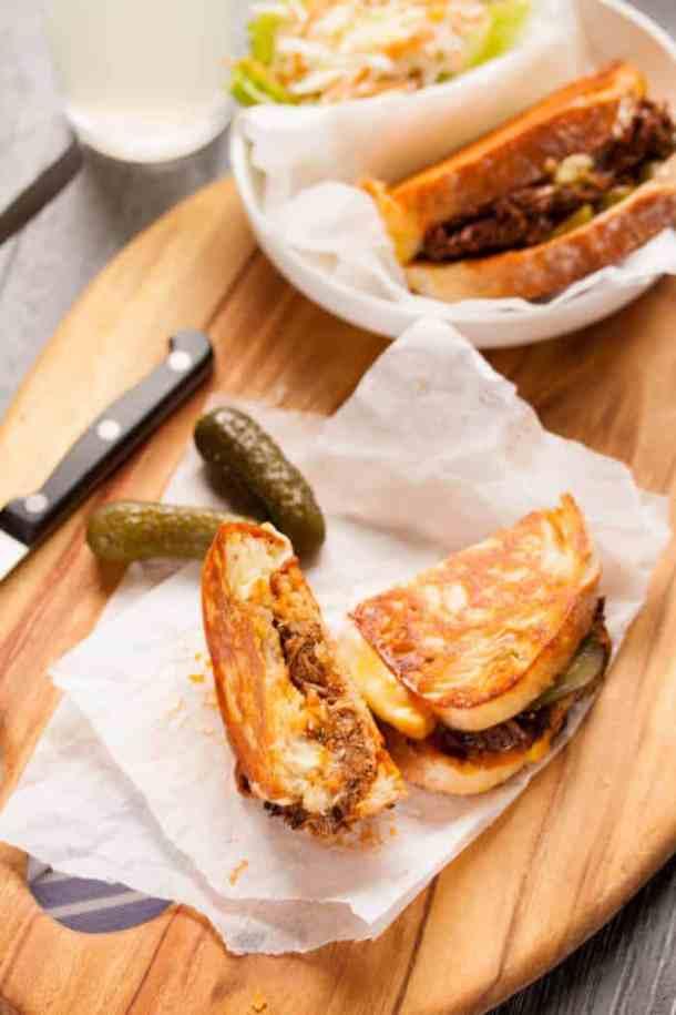 BBQ Beef Brisket Grilled Cheese Sandwich by Sugar Salt Magic