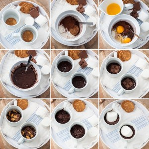 Smores Mug Cake - Gooey marshmallow, melty chocolate, chocolate cake and cookie. All in 5 minutes