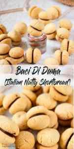 Baci di Dama - an Italian Almond Shortbread filled with dark chocolate