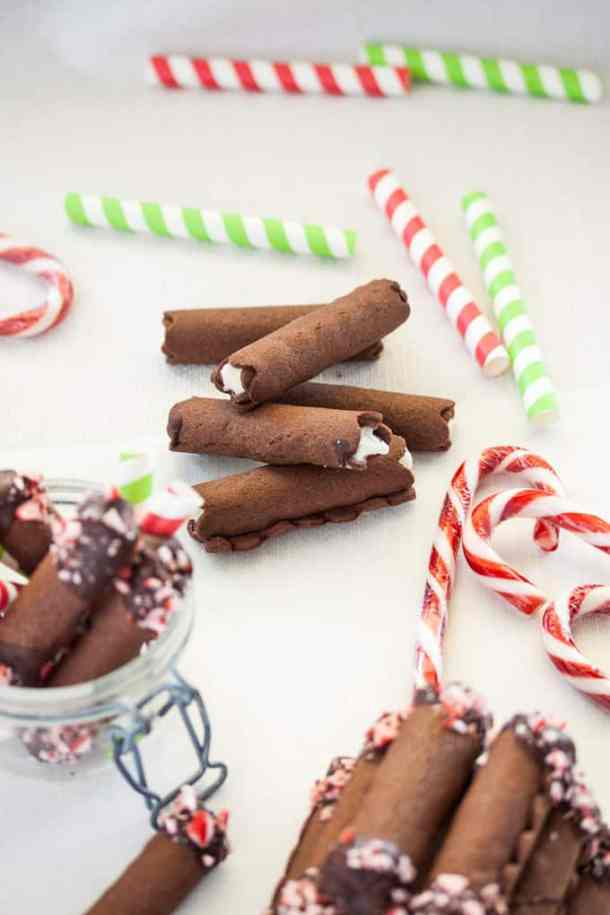 Rolled Peppermint Chocolate Christmas Cookies Sugar Salt Magic