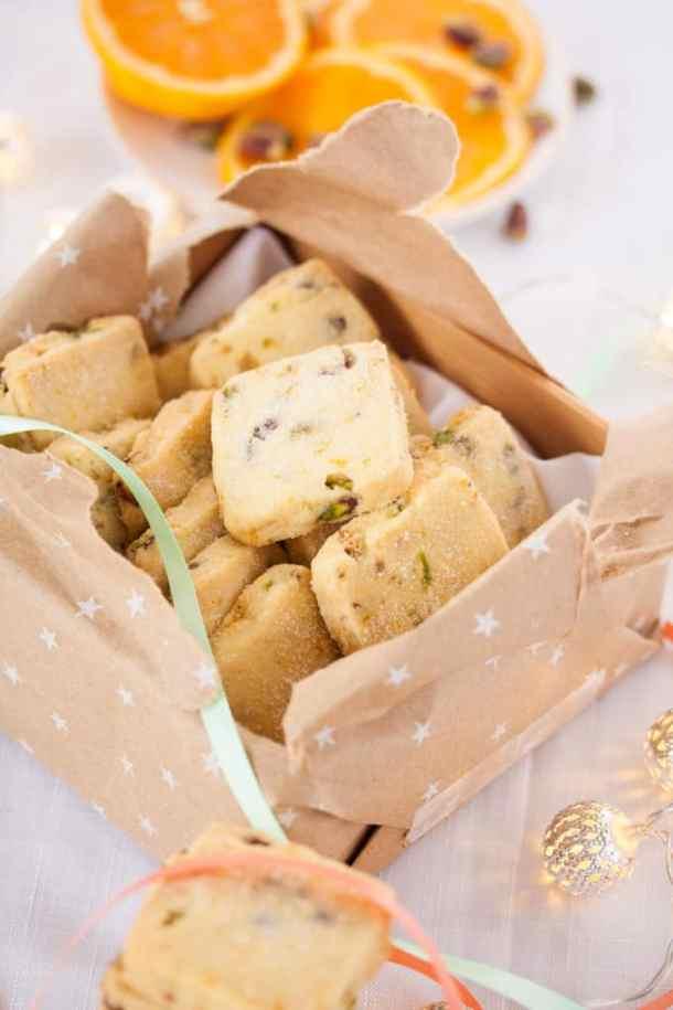 Orange Pistachio Shortbread Cookies   Sugar Salt Magic
