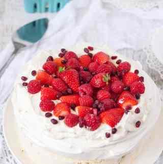 Raspberry Pavlova Ice Cream Cake