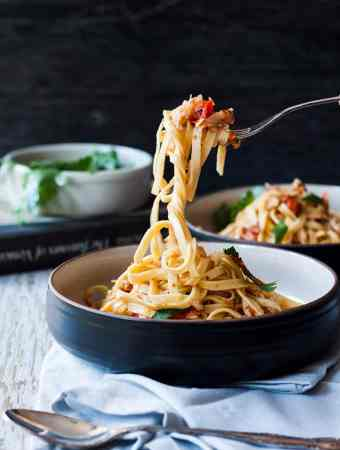 This authentic Venetian Crab Linguine, like all Italian food is simple flavours in an easy meal that tastes amazing.