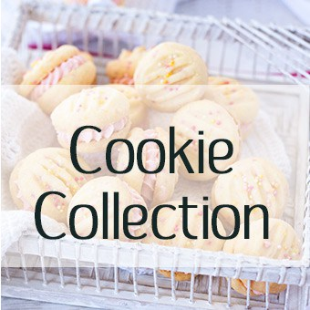 Collection of cookie recipes - melting moments, yoyos, choc chip cookies, biscuits