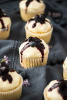 Fluffy and moist, Lemon Blueberry Cupcakes are filled with a surprise blueberry compote centre and a simple, creamy cream cheese frosting