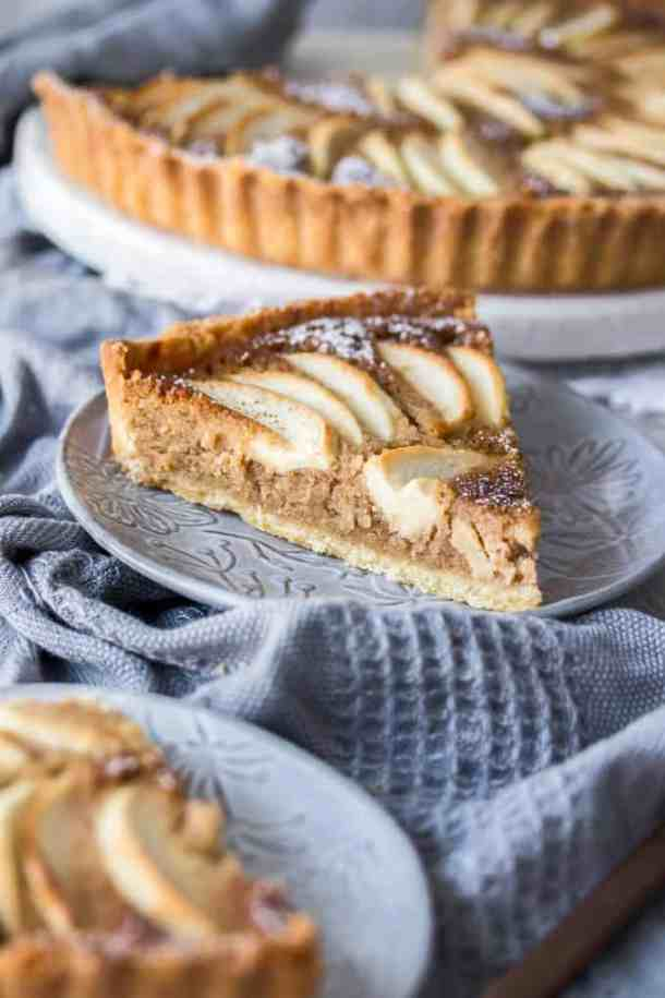 Sweet apples encased in an easy almond pastry filling and a crisp tart shell, this Apple Frangipane Tart is equal parts flavourful and delicate. If you're looking for easy apple desserts, you've found one.