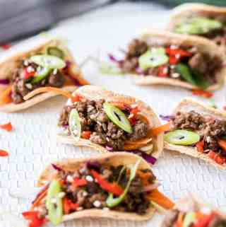 Mini Korean Beef Tacos
