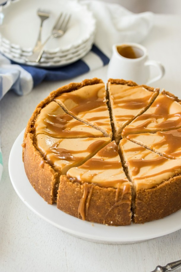 This Baked Salted Caramel Cheesecake recipe is a combination of simple caramel sauce and an easy baked cheesecake. Rich, indulgent and no tricky steps.