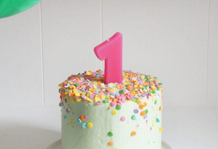Banana Baby Birthday Smash Cake Sugary Buttery