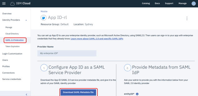 Setting up Single Sign-On (SSO) with IBM Cloud App ID, simpleSAMLphp and LDAP