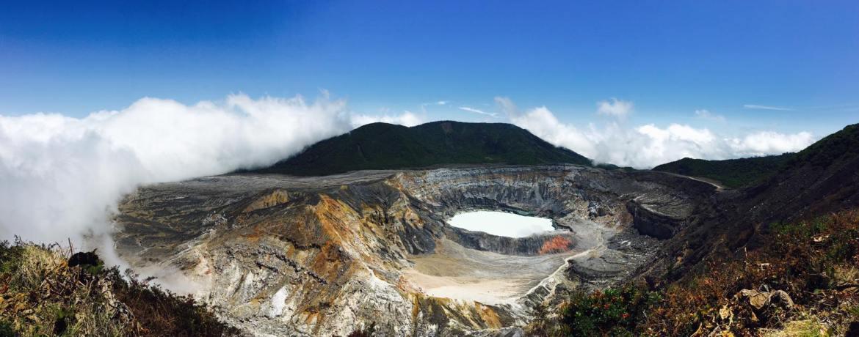 Le volcan Poas au Costa Rica
