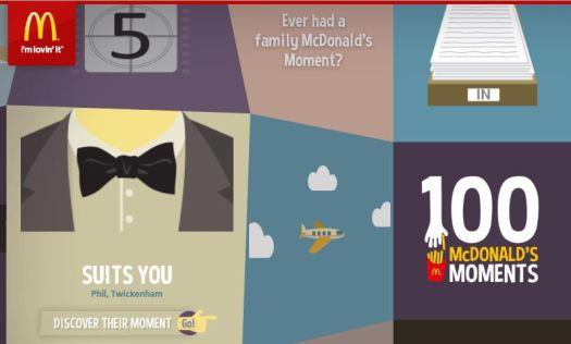 McDonald's Moments Campain June 2013 Screenshot