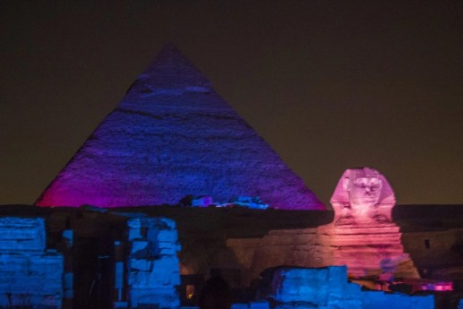 Sound and Light Show Pyramids of Giza Sphinx Cairo Travel Talk Tours Egypt Solo Female Travel Jewels of the Nile Tour