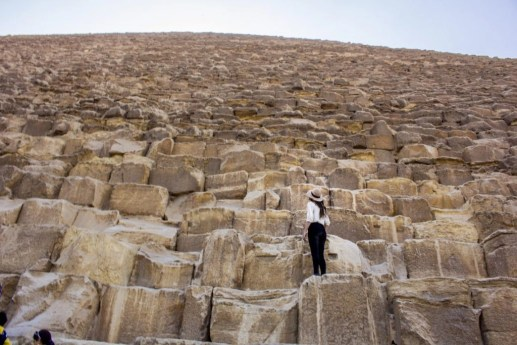 climbing the pyramid of giza - Travel Talk Tours Solo female travel egypt