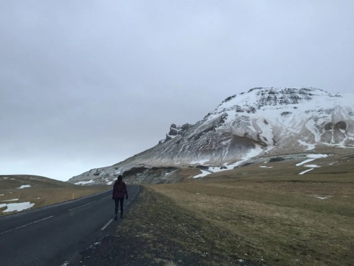driving on the way to vik Iceland solo female travel roadtrip
