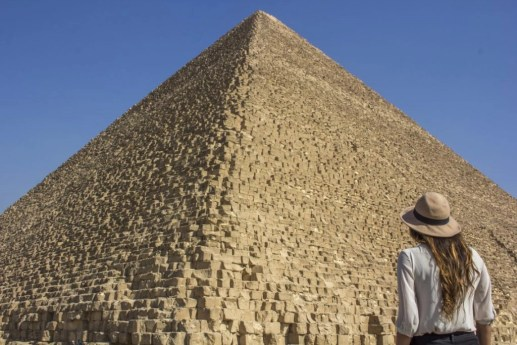 looking away the great pyramid of giza - Travel Talk Tours Solo female travel egypt