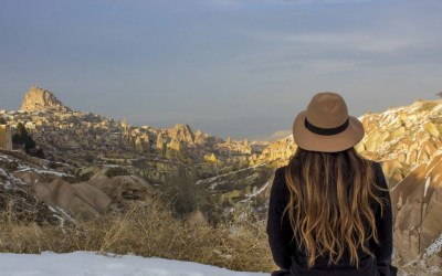 Cappadocia Turkey How to take photos of yourself when traveling solo