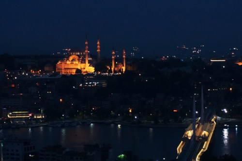 A view of the 'New' Mosque from across The Golden Horn.  The New Mosque is around 300 years old, by the way