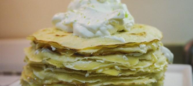 Kaffir Lime Curd Crepe Cake