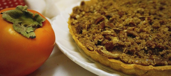 Persimmon Pumpkin Tart with Streusel Top