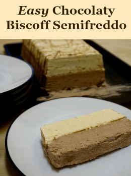 This rich semifreddo combines chocolate & biscotti cookie butter for a blow your mind dessert! | Suitcase Foodist