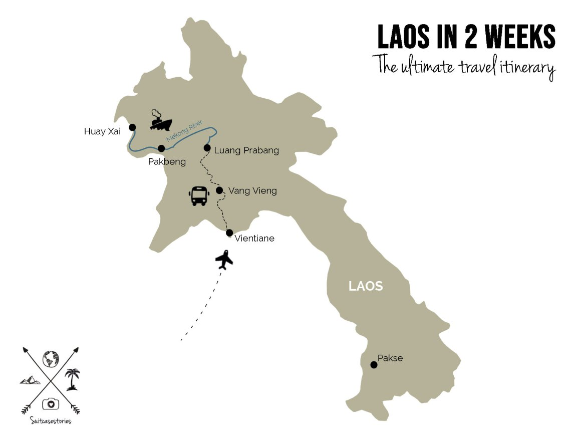 Laos in 2 weeks itinerary