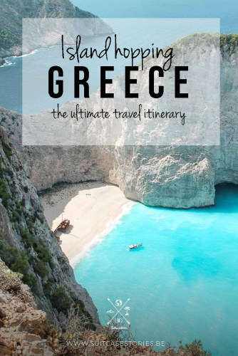 Island hopping in Greece travel itinerary