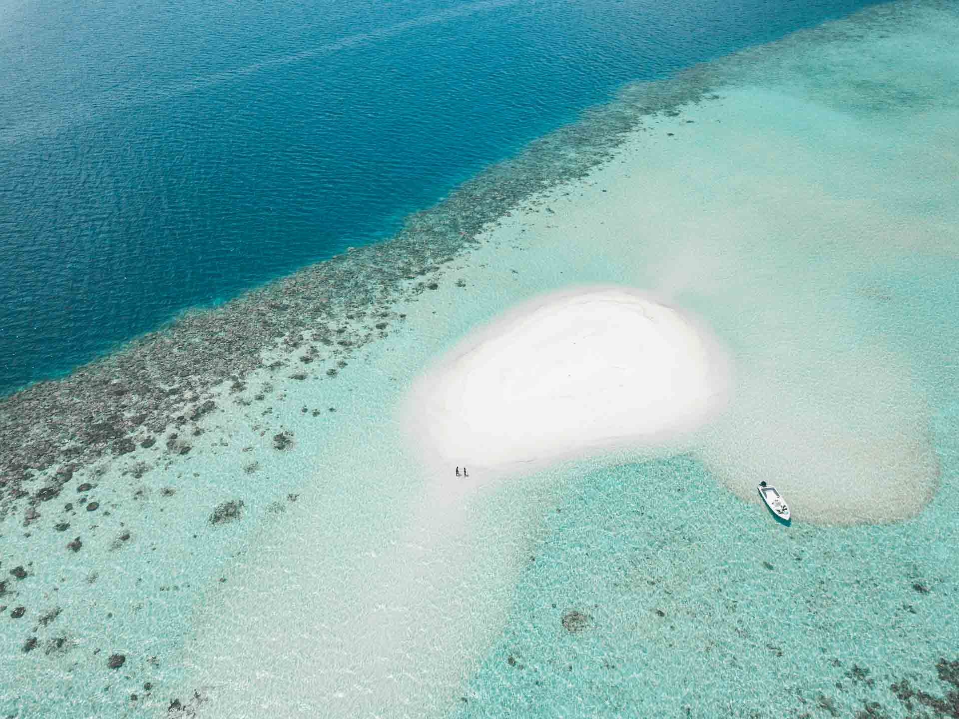 Maldives - deserted sandbank