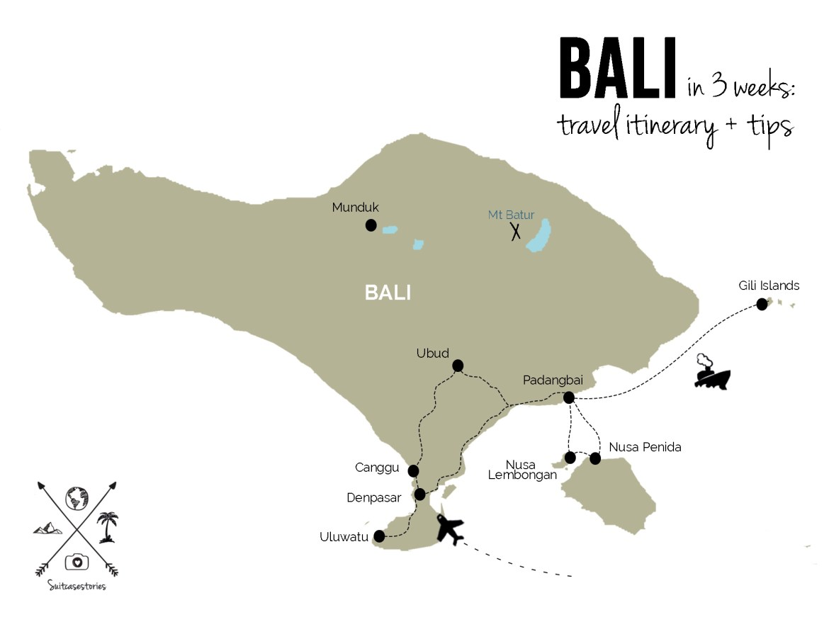 Bali in 3 Weeks travel itinerary + tips