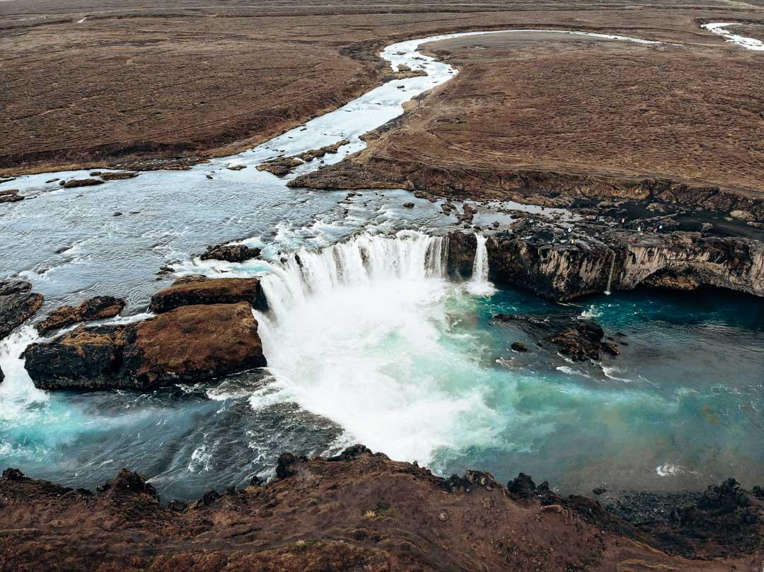 Godafoss Waterfall Iceland Itinerary