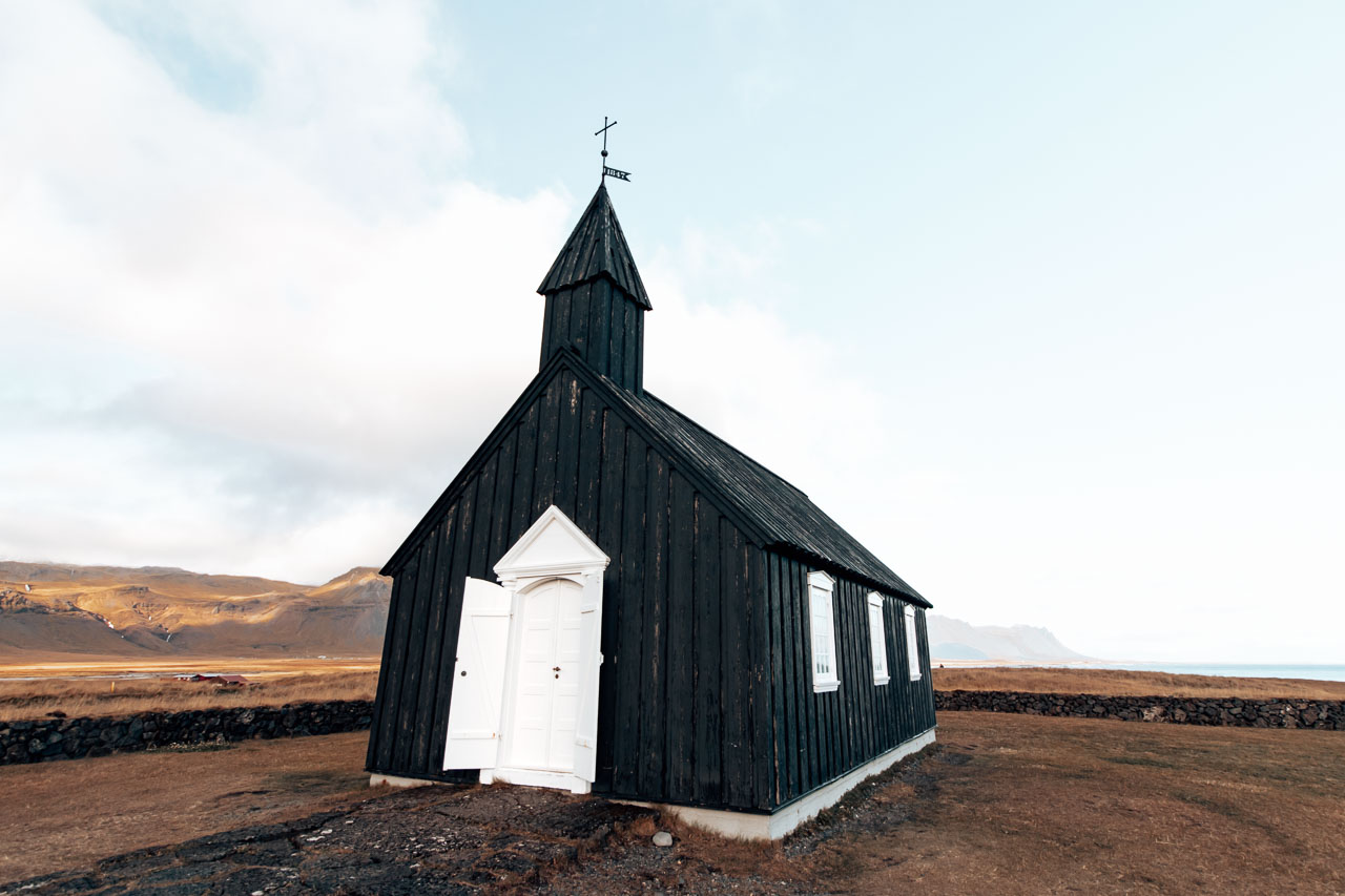 Budir Church in Snæfellsnes peninsula