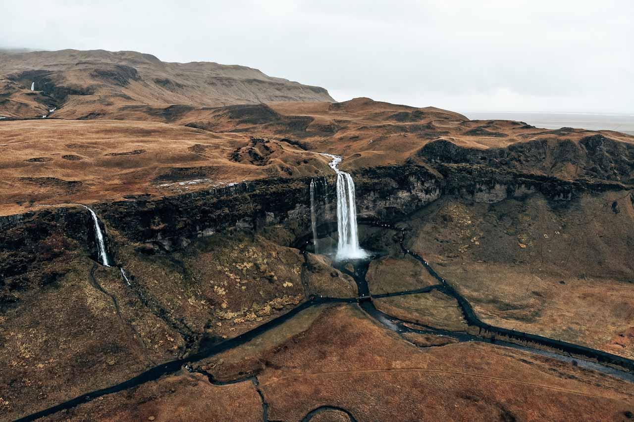 Seljalandsfoss and Gljufrabui waterfalls