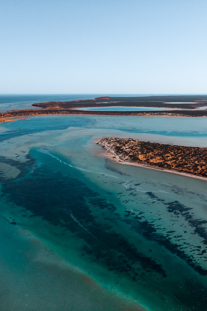 Big Lagoon in tracks in Francois Peron National Park