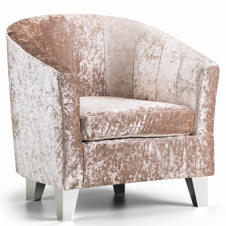 crushed velvet chair wooden horse rocking tub