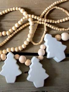 DIY Cement Christmas Tree Garland