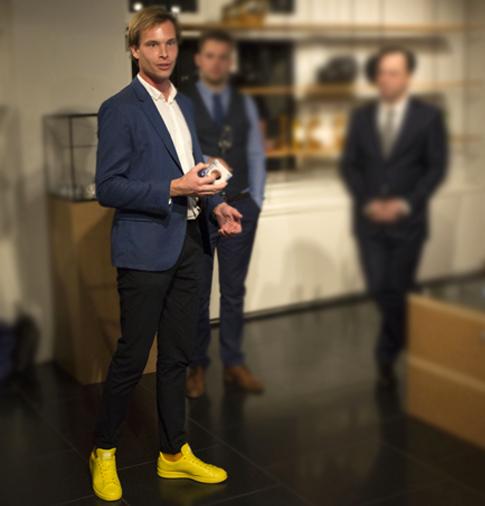 designer Erik Boogerd bij X BANK, Amsterdam