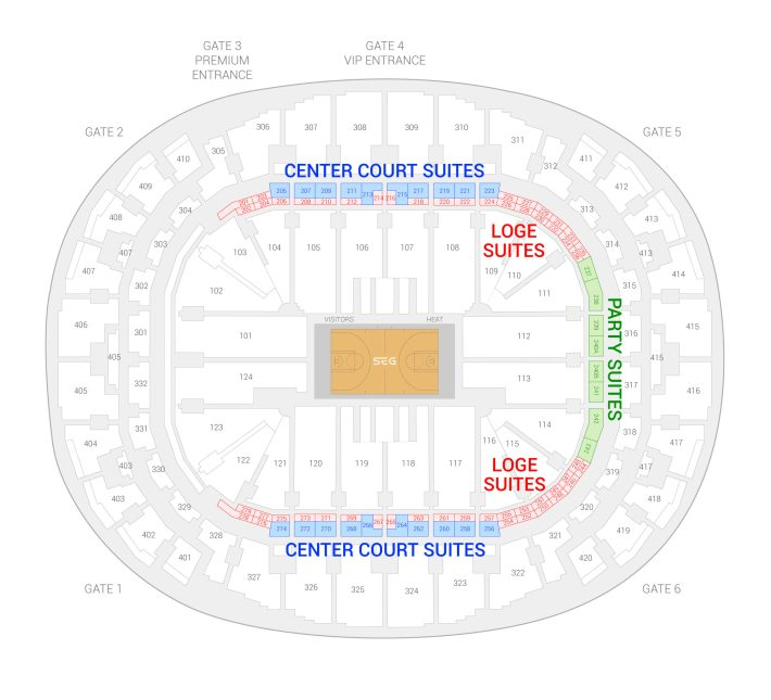 miami heat vs. philadelphia 76ers suites | dec 28