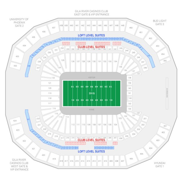 Glendale Arizona Stadium Seating Chart Brokeasshome Com