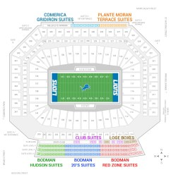 ford field detroit lions suite map and seating chart [ 2000 x 2000 Pixel ]