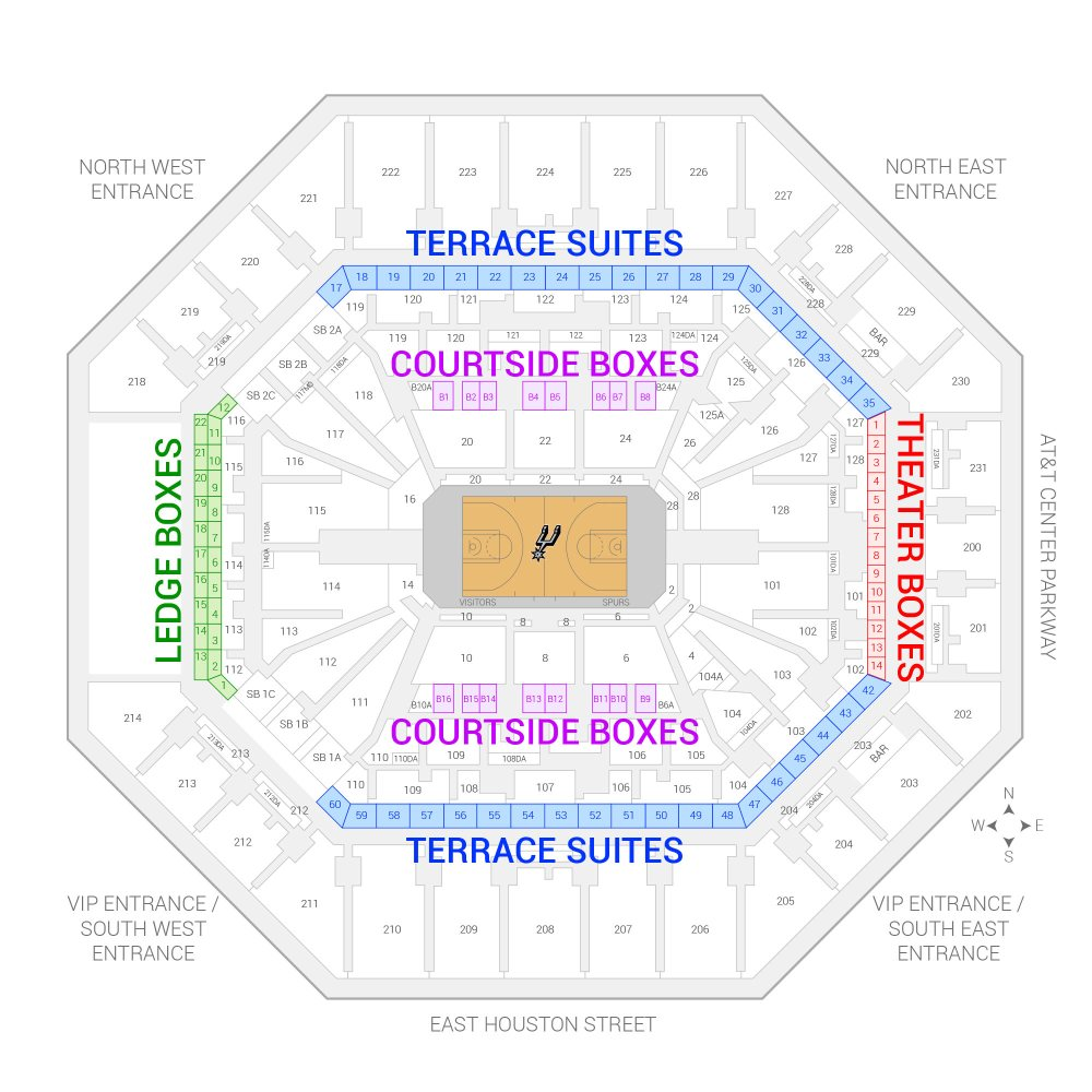 medium resolution of at t center san antonio spurs suite map and seating chart