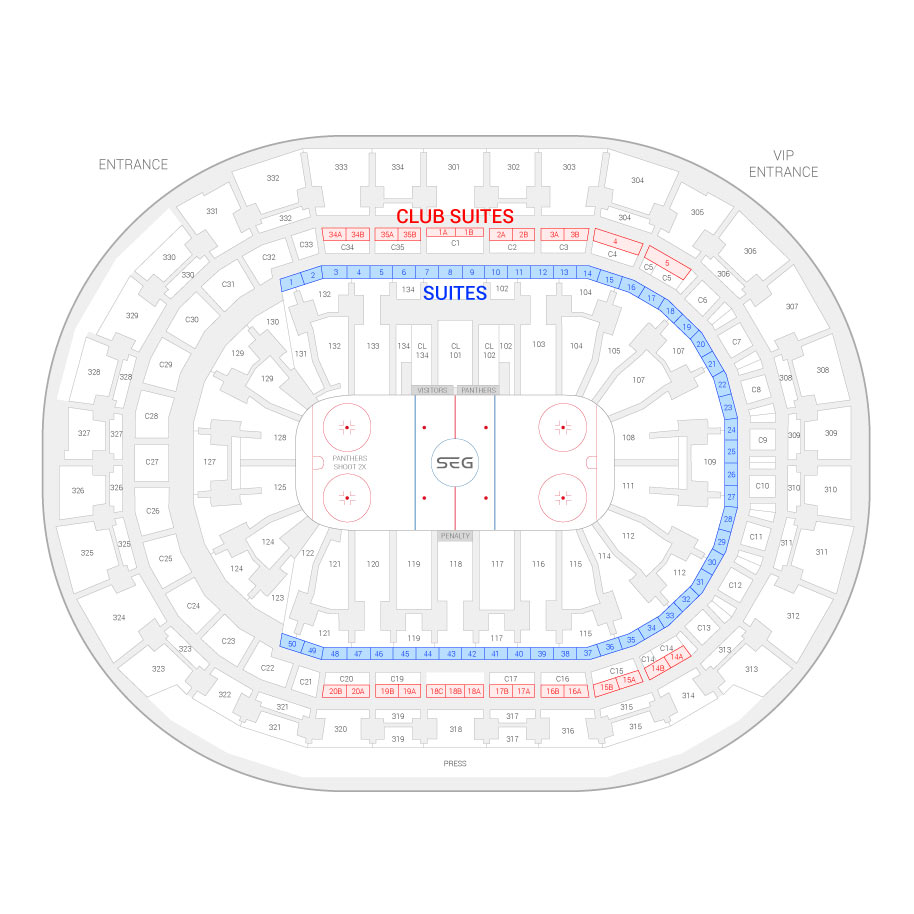 hight resolution of bb t center florida panthers suite map and seating chart