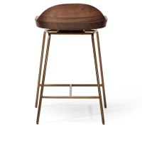 Spindle Bar Stool Low Back | BassamFellows | SUITE NY