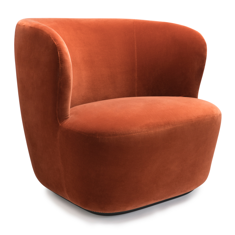 swivel lounge chairs high top table folding stay chair space copenhagen gubi suite ny